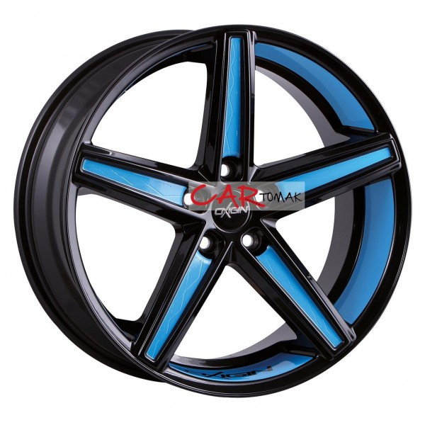 ALLOYWHEEL 9X20 OXIGIN 18 CONCAVE FOIL BLUE 5X108 ET40 HB72.6
